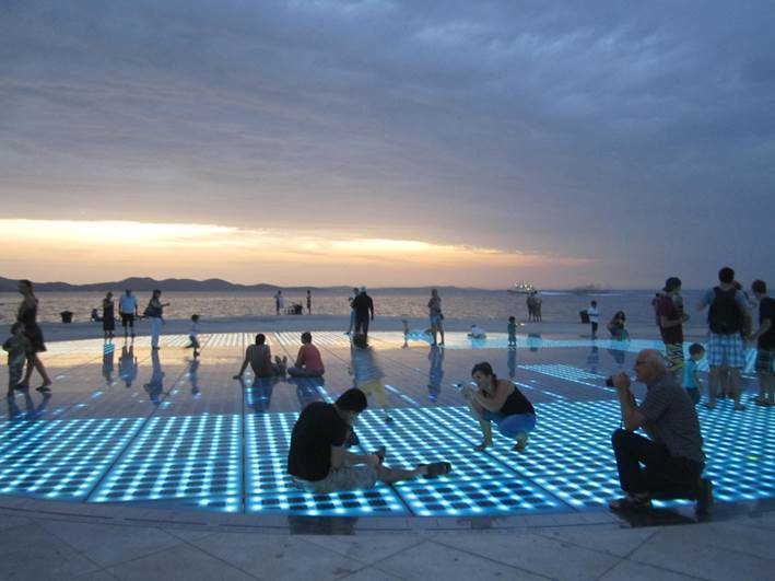 Salut au soleil Zadar Croatie